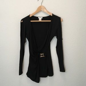 Cache Long Sleeve With Arm Detail Cut out